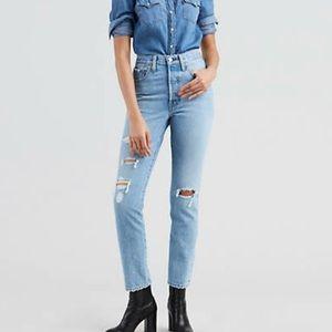 Levi's 501 S Skinny Jeans Size US 26 Light Wash